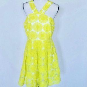 David Cremieux Natalie Yellow Daisy Dress